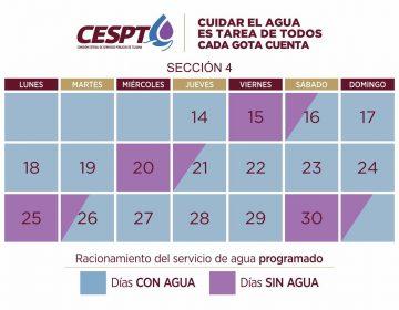 Aplicarán el 4to tandeo de agua para 130 colonias de Tijuana y Rosarito