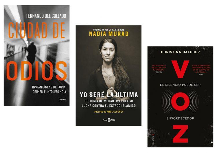 Tres libros: Fernando del Collado, Nadia Murad, Christina Dalcher…