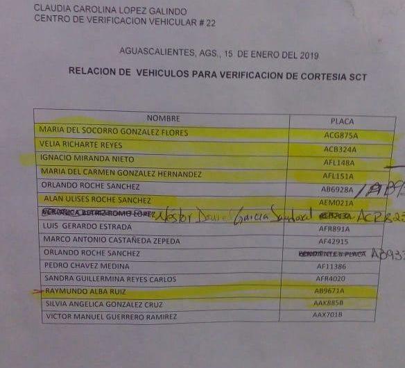 Verifican Gratis sus autos particulares funcionarios de SCT Aguascalientes