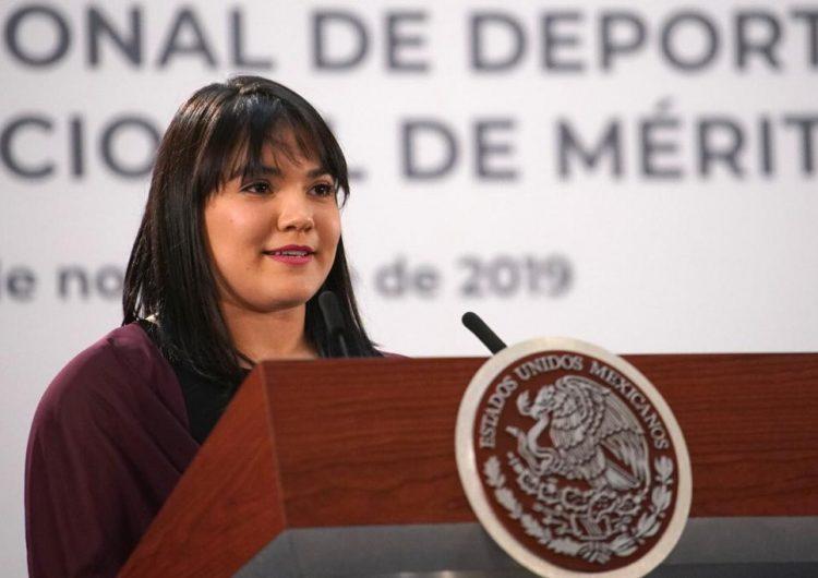 Alexa Moreno recibe el Premio Nacional del Deporte y pide no claudicar el apoyo a los deportistas
