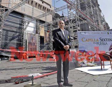 A marcha forzada trabajos de la Capilla Sixtina en Puebla