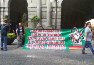 Marcha UPVA contra golpe de estado en Boliva