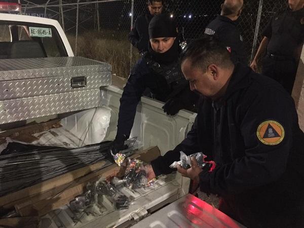 Asegura Protección Civil Municipal 380 kg. de pirotecnia en Aguascalientes