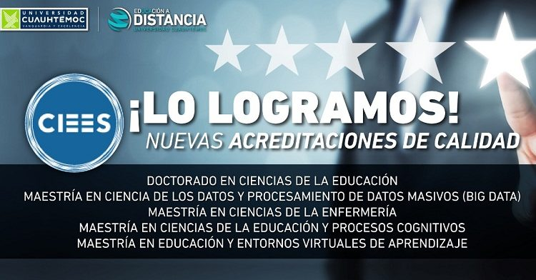 Acreditan posgrados en línea de la U. Cuauhtémoc campus Aguascalientes