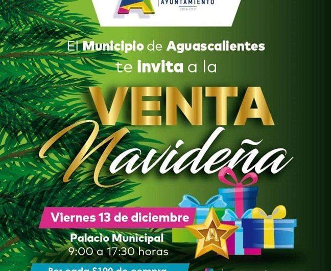 Realizarán venta navideña en Presidencia Municipal de Aguascalientes