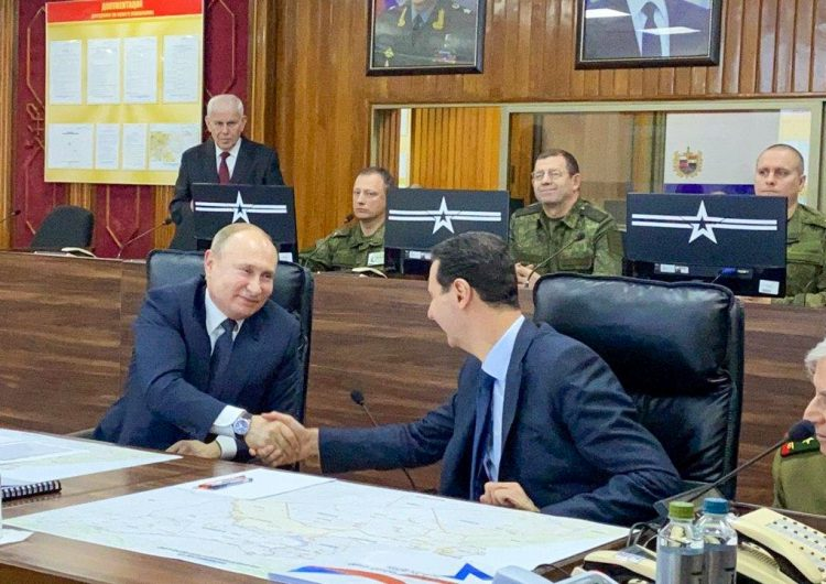 Vladimir Putin se reúne con el presidente de Siria, Bashar al Asad