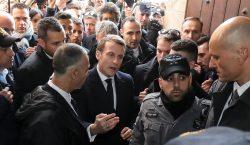 Altercado verbal entre el presidente Emmanuel Macron y policías israelíes…