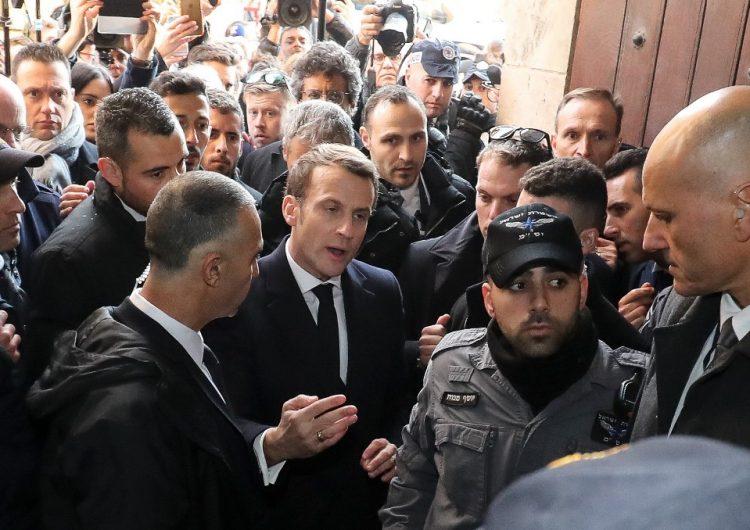 Altercado verbal entre el presidente Emmanuel Macron y policías israelíes en Jerusalén