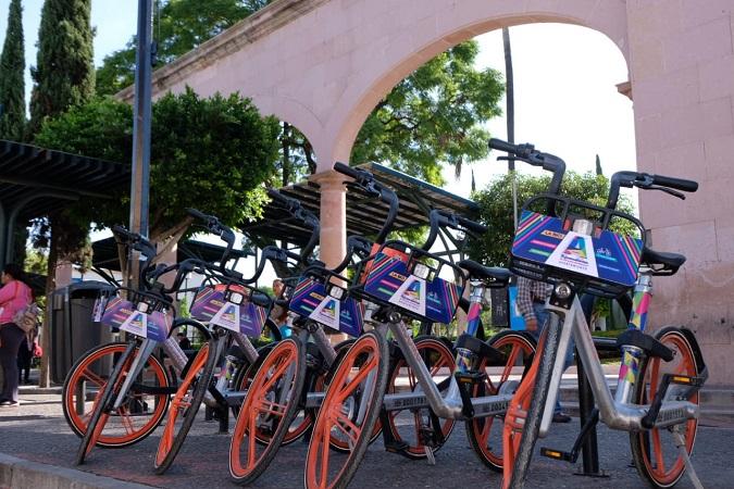 Ampliarán zona para trayectos de bicicletas de renta pública en Aguascalientes