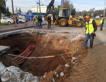 Casi tres semanas y 2 mdp para reparar socavón en Otay