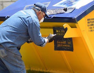 Rehabilitan más de 700 contenedores de basura de comunidades de Aguascalientes