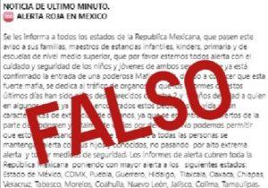 Advierte SSPE de mensaje falso sobre banda dedicada a venta de órganos en Aguascalientes