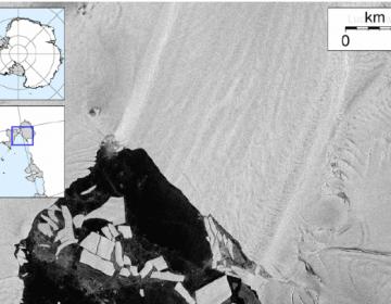 Una animación muestra un iceberg del tamaño de Las Vegas desprendiéndose de un glaciar antártico
