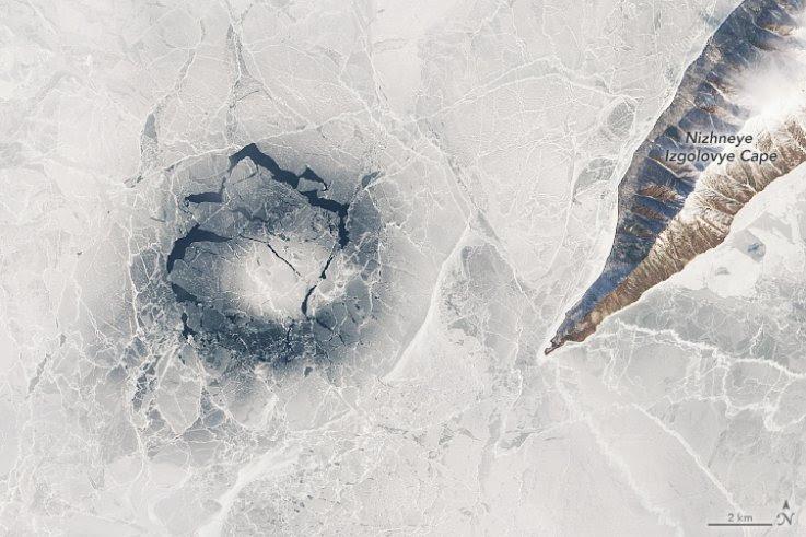 ¿Por qué se forman anillos de hielo gigantes en el lago Baikal, el más profundo del mundo?