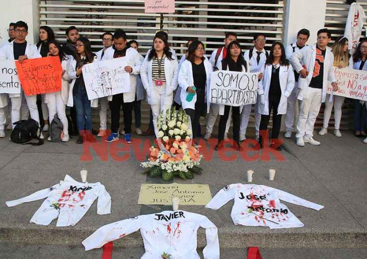 BUAP y Upaep exigen justicia por alumnos asesinados en Huejotzingo
