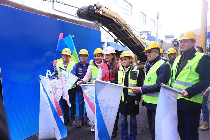 Inician rehabilitación de calles del centro de Aguascalientes