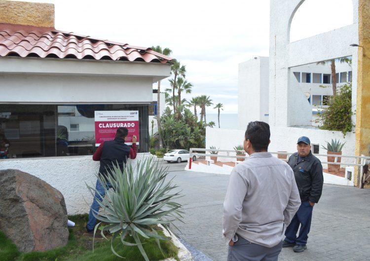 """Clausuran hotel """"Las Rocas""""en Rosarito por adeudo de agua"""