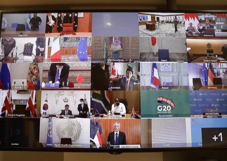 El G20 se reúne de urgencia frente al coronavirus, que ya dejó casi 22,000 muertos