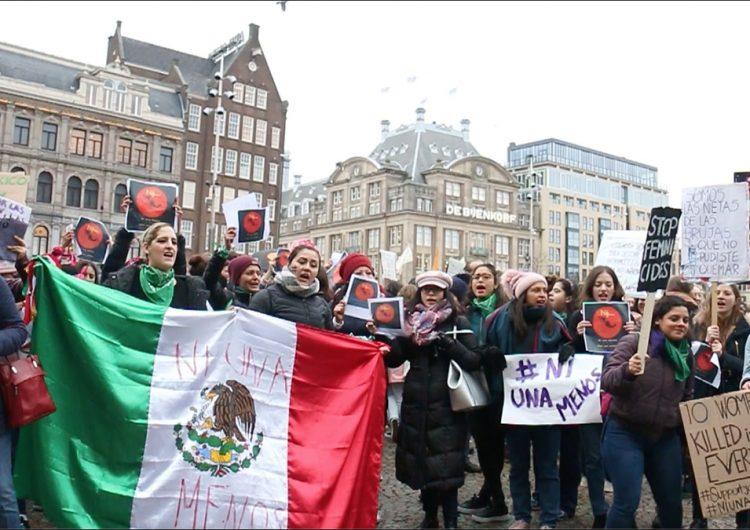Así protestaron las mexicanas fuera de México