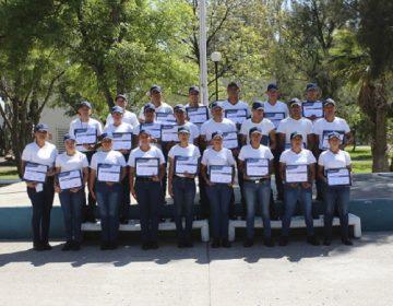 Ingresan siete nuevos policías municipales en Calvillo