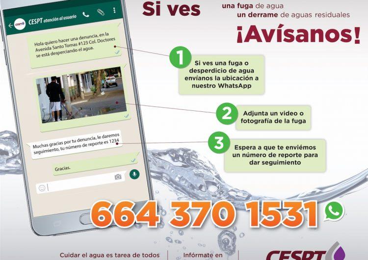 Lanza CESPT número de WhatsApp para reportes y denuncias