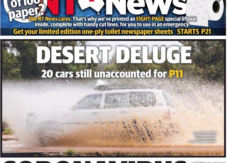 Ante compras de pánico, periódico de Australia deja planas que pueden usarse como papel higiénico