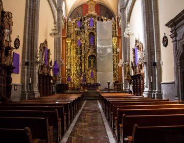 Una iglesia de la CDMX cubre las imágenes femeninas para denunciar la violencia contra las mujeres