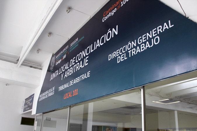 Suspenden labores en la Junta Local de Conciliación y Arbitraje de Aguascalientes
