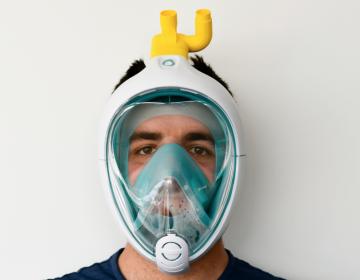 Crean válvula impresa en 3D que convierte un visor de esnórquel en respirador
