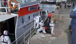 Crucero australiano anclado en Uruguay tiene más de 80 personas…