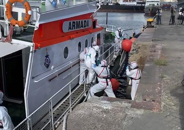 Crucero australiano anclado en Uruguay tiene más de 80 personas contagiadas de COVID-19