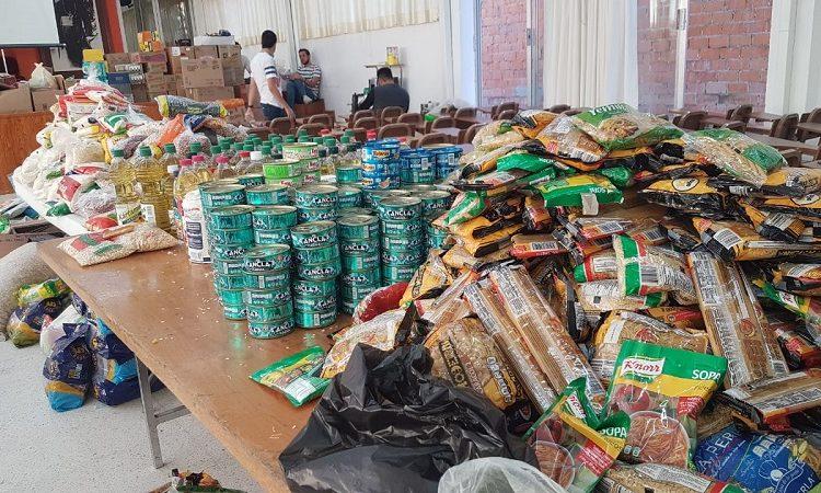 Avanza donación de despensas en Cáritas Aguascalientes