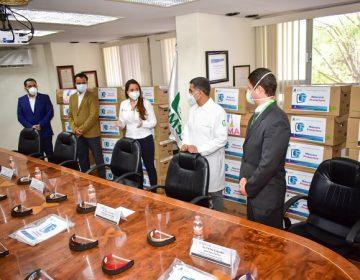 Dona municipio de Aguascalientes 10 mil caretas de protección a hospitales