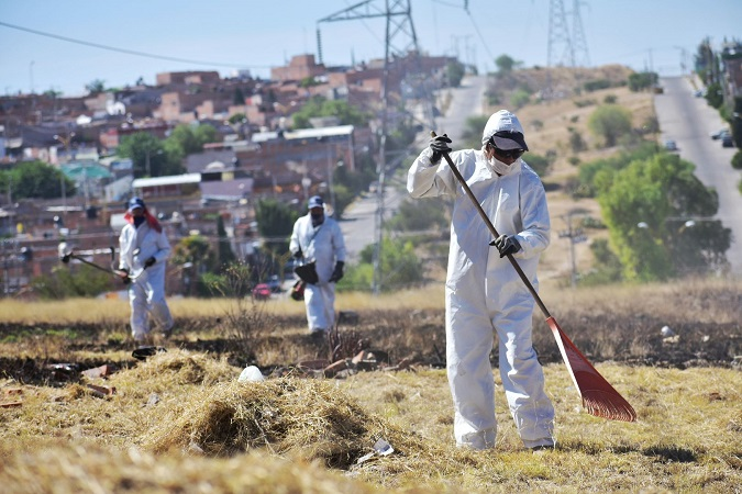 Realizan jornada masiva de limpieza en colonias del oriente de Aguascalientes