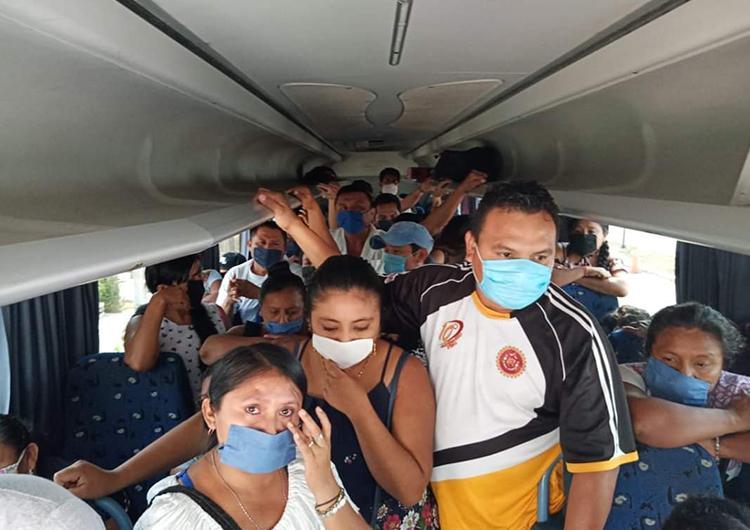 Transporte público, foco de contagio