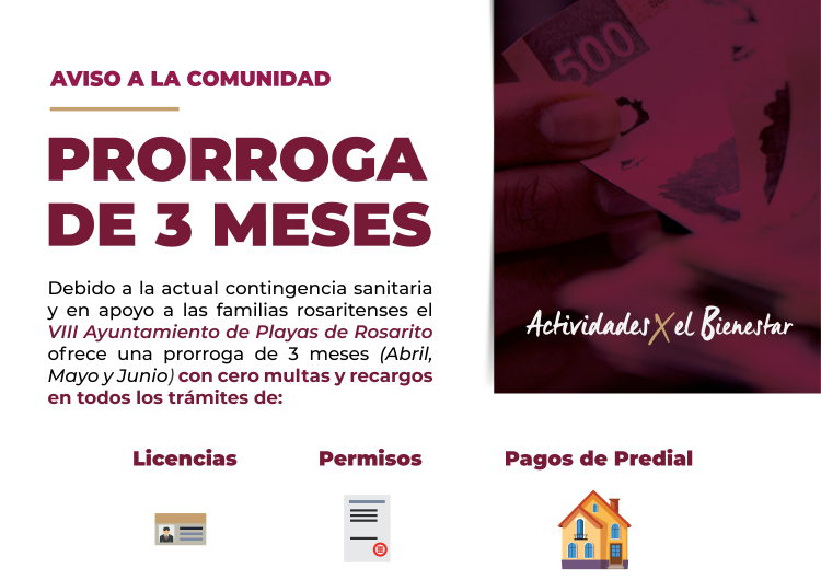 Ofrecen prórroga de tres meses para pago de impuestos en Rosarito