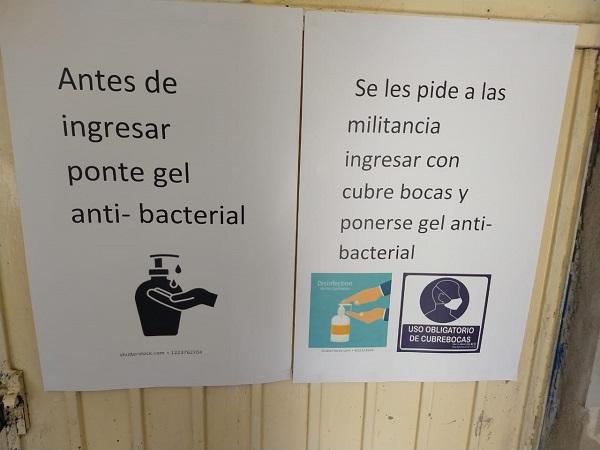 Refuerzan medidas de prevención del coronavirus en centros de rehabilitación en Aguascalientes