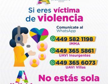 Activa IMMA líneas de Whatsapp para atender casos de violencia durante cuarentena