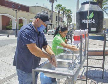 Instalan lavamanos portátiles en plazas públicas de Jesús María