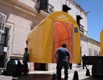 Instalan túneles sanitizantes en Jesús María