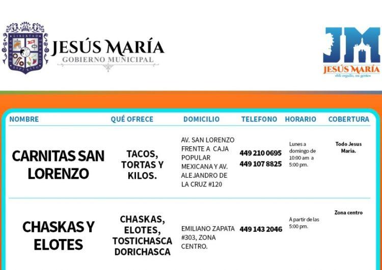 Crea ayuntamiento de Jesús María directorio de servicios para impulsar economía