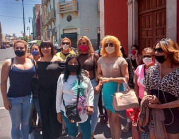 Se manifiestan sexoservidoras de Aguascalientes por falta de apoyos