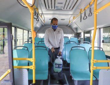 Realiza Orozco gira de supervisión sanitaria en transporte público