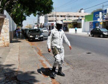 Guardia Nacional vigila se cumpla cuarentena en playas de Yucatán