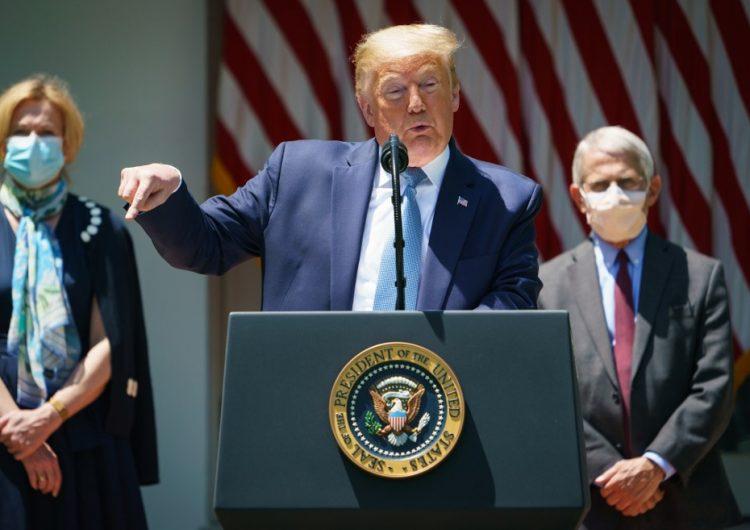 """Trump espera tener vacuna contra COVID-19 para fin de año o """"quizás antes"""""""