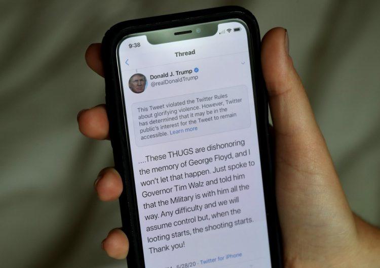 """Twitter oculta tuit de Trump sobre las protestas en Minneapolis que hace """"apología de la violencia"""""""