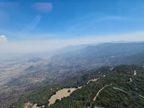 Envían 30 brigadistas de Aguascalientes a sofocar incendio en Villanueva, Zacatecas
