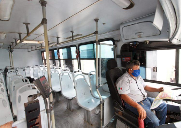 Entre 50 y 80% bajaron rutas del transporte urbano en Mérida (Galería fotográfica)