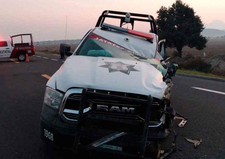 Muere policía de Puebla en accidente carretero