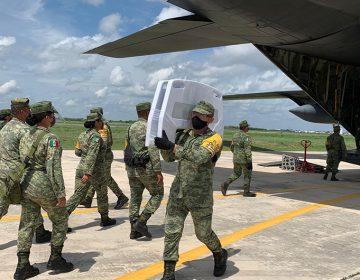 Llega nuevo avión del Ejército con insumos médicos vs COVID-19 (Galería y Video)